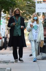 Elsa Hosk Grabs iced coffee with her partner in Manhattan