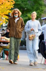 "Elsa Hosk Taking a stroll with her husband after having lunch at the ""Smile"" in New York"