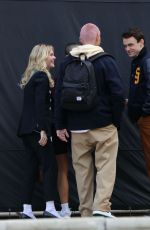 Emily Alyn Lind On the set of Gossip Girl in New York