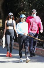 Emily Ratajkowski Steps our for a hike with her husband and a friend in Los Angeles