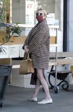 Emma Roberts Looks chic as she stops for some organic juice in Los Feliz
