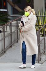 Emma Roberts Steps out for her morning coffee in Los Angeles