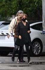 Goldie Hawn And husband Kurt Russell mask up as they go out for a seafood lunch in Santa Monica