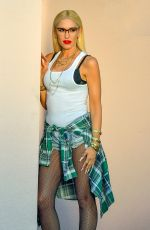 Gwen Stefani Posing for her Lamb Collection in Beverly Hills