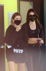 Hailey Bieber & Kendall Jenner Grab juice together after their workout in Los Angeles