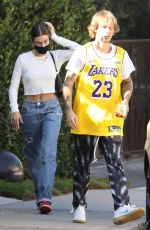 Hailey Bieber Visiting some friends in Beverly Hills