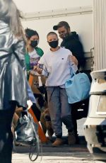 Halsey Arrives at a studio in Los Angeles