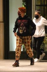 Halsey Out for dinner with friends in New York