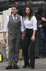 Hayley Atwell Handcuffed on the set of Mission Impossible 7 in Rome