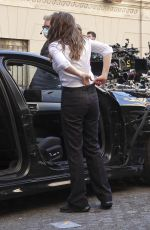 Hayley Atwell On the set of