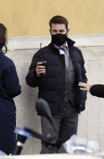 Hayley Atwell On the set of Mission Impossible 7 - Libra out filming in Rome