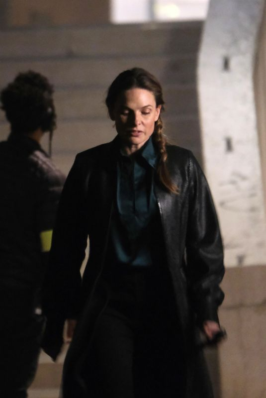 Hayley Atwell Seen completing a late-night shoot for