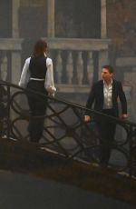 Hayley Atwell Shoot scenes of Mission Impossible 7 on the bridge Minich in Venice