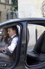 Hayley Atwell Spotted shooting Mission Impossible 7 in the cosy Rione Monti neighborough in Rome