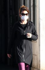 Hayley Atwell Steps out for a walk during break from filming