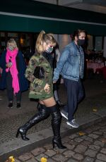 Heidi Klum Steps out with husband Tom Kaulitz and family for a Halloween Night dinner in Berlin