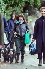 Helena Bonham Carter Looks in great spirits while pictured out with partner Rye Dag Holmboe and son in North London