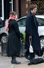Helena Bonham Carter Out walking arm in arm with her boyfriend Rye Dag Holmboe in North London