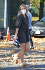 Hilary Duff Arrives on the set of