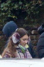 Iris Law Takes a walk with her boyfriend Jyrrel Roberts in North London
