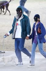 Jacob Elordi & Kaia Gerber Hold hands as they are seen in a park with Kaia