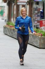 Jenni Falconer Pictured leaving Global Radio, Leicester Square in London