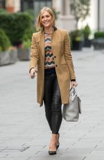 Jenni Falconer Seen leaving Global Studios, Smooth FM in London