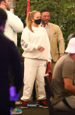 Jennifer Lopez Say goodbye to friends and fans as they make their exit after dinner at Matsuhisa in Beverly Hills