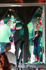 Jennifer Meyer Has fun and enjoys a drink as the Casamigos Halloween truck visits her at her house