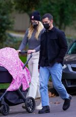 Joe Jonas and Sophie Turner step out together for a Thanksgiving Day walk with their daughter Willa in Los Angeles