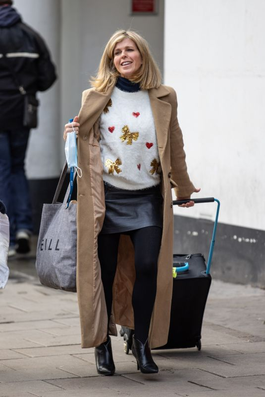 Kate Garraway Arrives at Global for her radio show in London