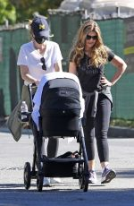 Katherine Schwarzenegger Enjoys a walk with mom Maria Shriver and newborn baby Lyla in Brentwood