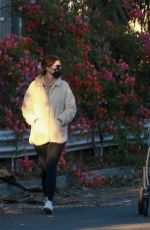 Katherine Schwarzenegger Takes a sunset stroll with her daughter in Santa Monica