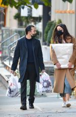 Katie Holmes And Emilio Vitolo Jr. have their hands full while shopping in Manhattan