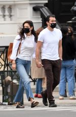 Katie Holmes And her boyfriend Emilio Vitolo are photographed leaving Dekor NYC Furniture Store in New York