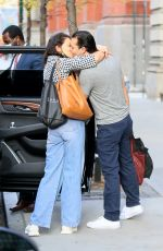 Katie Holmes Gives her boyfriend Emilio Vitolo Jr. a kiss as she heads out of town in New York