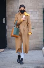 Katie Holmes Keeps a casual cool look in SoHo, New York