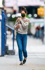 Katie Holmes Steps Out on Thanksgiving Day in New York City