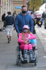 Katie Price Is seen at the Chelsea and Westminster hospital