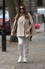 Kelly Brook Shares a bright smile at Global Radio in London