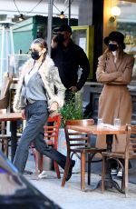 Kendall Jenner and Bella Hadid having lunch at Bubby