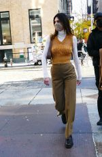 Kendall Jenner Stuns in autumn tones as she is spotted out & about in New York City