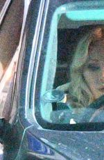 Kristina Rihanoff Seen looking a little tired following a long days filming as she leaves Elstree studios