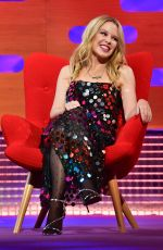 Kylie Minogue During the filming for the Graham Norton Show at BBC Studioworks 6 Television Centre, Wood Lane, London
