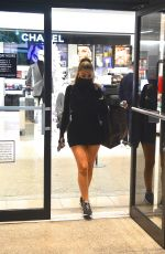 Larsa Pippen In a mini black dress as she goes shopping