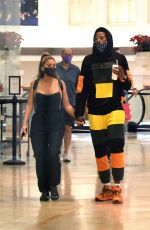 Larsa Pippen Wears a very revealing top and holds hands with a mystery man as she hits the mall in Miami