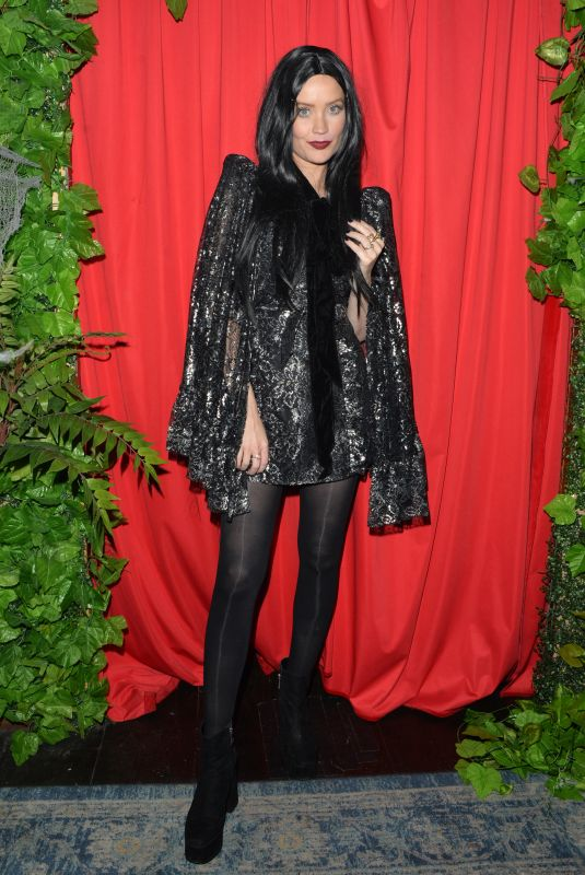 Laura Whitmore Dresses up in a Halloween costume for All Stars cabaret in London