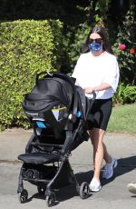 Lea Michele Out & about with her husband in Santa Monica