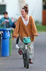 Lena Headey Is all smiles riding a bicycle in Los Angeles