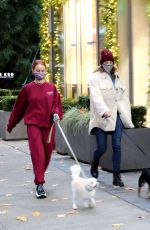 Lili Reinhart and Madelaine Petsch out with their dogs in Vancouver